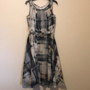 Black and cream Coldwater Creek dress Size 6